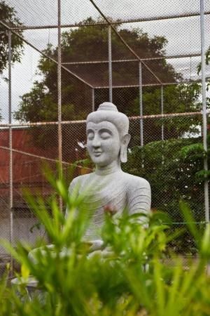 stone buddha: stone  Buddha Statue at chonburi thailand Stock Photo