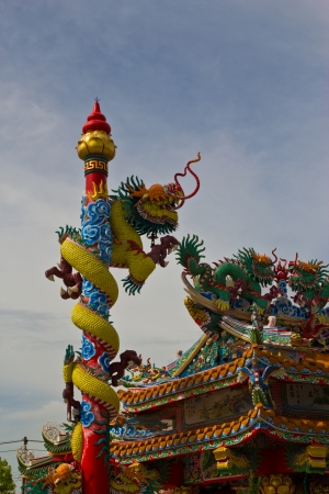 Demon swan jade dragon on the shrine of a dead person photo