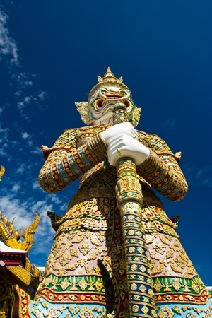 southeastern: Demon Guardian at Temple of the Emerald Buddha in Bangkok Thailand