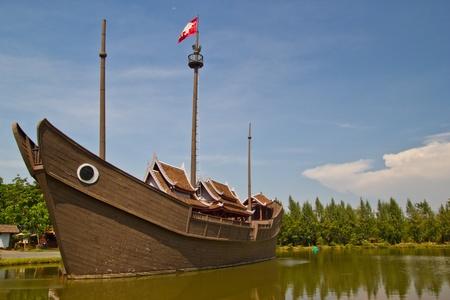 a boat models ancient at samutprakan Stock Photo - 14499958