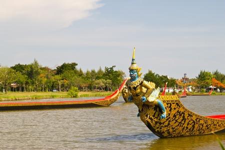a boat models ancient at samutprakan