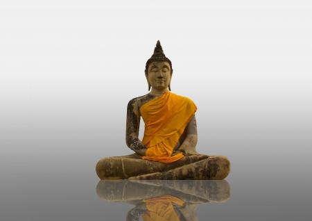 Buddha statue in old temple at Phra Nakhon Si Ayutthaya photo