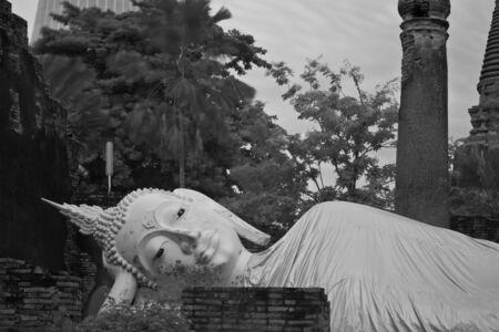 big buddha by infrared at Phra Nakhon Si Ayutthaya photo