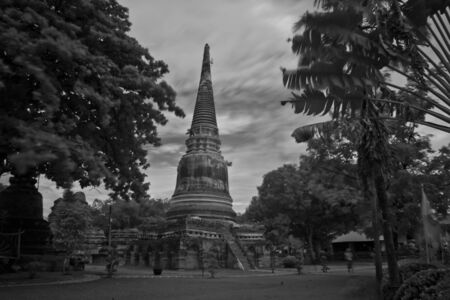 pagoda photo by infrared at Phra Nakhon Si Ayutthaya  thailand Stock Photo - 14839411