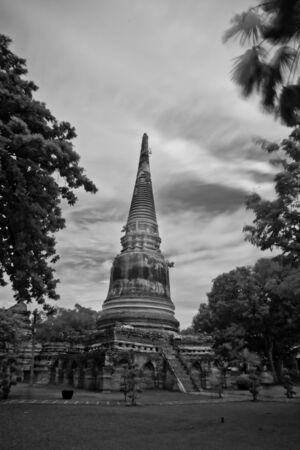 pagoda photo by infrared at Phra Nakhon Si Ayutthaya  thailand Stock Photo - 14839414