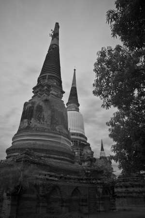 pagoda photo by infrared at Phra Nakhon Si Ayutthaya  thailand Stock Photo - 14839415