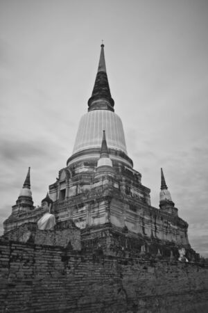 pagoda photo by infrared at Phra Nakhon Si Ayutthaya  thailand Stock Photo - 14839409