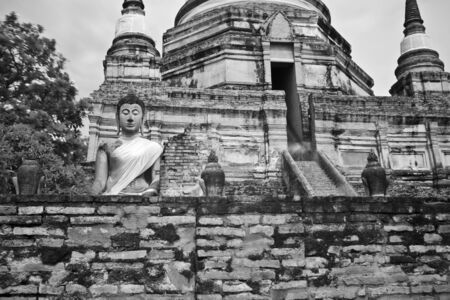 pagoda photo by infrared at Phra Nakhon Si Ayutthaya  thailand Stock Photo - 14839416