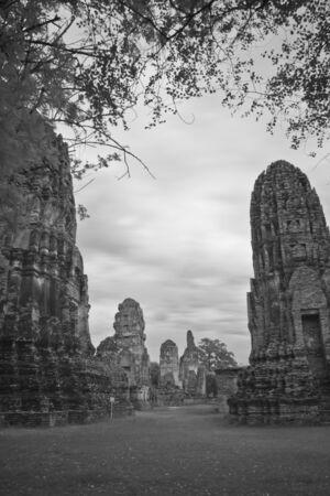pagoda photo by infrared at Phra Nakhon Si Ayutthaya  thailand Stock Photo - 14839417