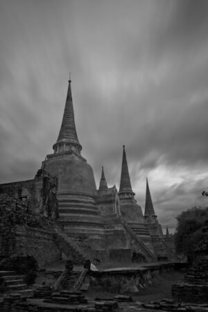 pagoda photo by infrared at Phra Nakhon Si Ayutthaya  thailand Stock Photo - 14839424