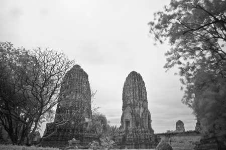 pagoda photo by infrared at Phra Nakhon Si Ayutthaya  thailand Stock Photo - 14839423