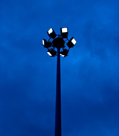 lamp post electricity industry at chonburi thailand Stock Photo - 15327539