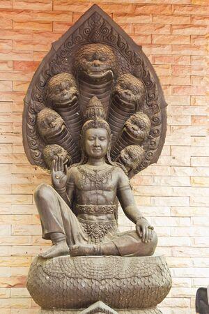 stone buddha: old Stone Buddha Statue at thailand
