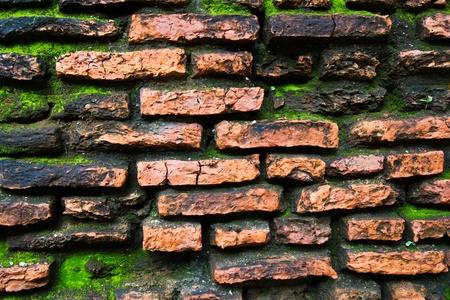 old wall at thailand photo