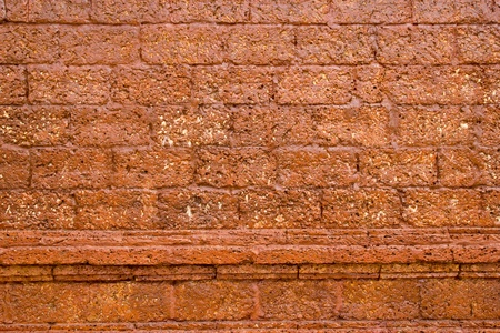 revetment: old wall at heritage world Phra Nakhon Si Ayutthaya park