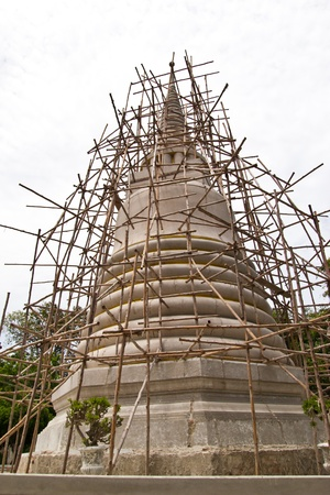 the pagoda is thatting build at chonburi photo