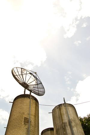 satellite dish at wat tumnimit thailand Stock Photo - 15640794