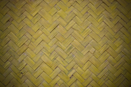 aslant: patterns of weave bamboo in asia. Stock Photo