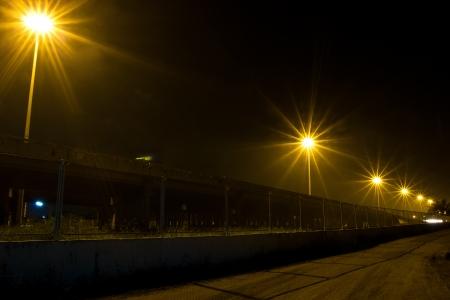 bridger: road at night Stock Photo
