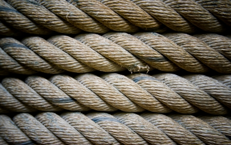 collection of various ropes background. photo