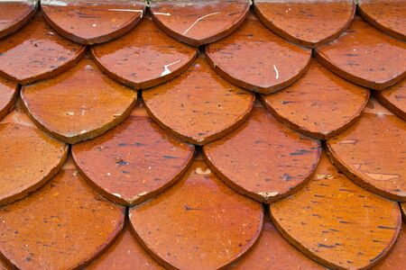 background of old roof tiles photo