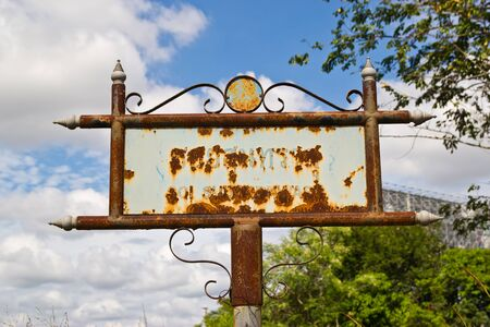 blank old fashion metal sign photo