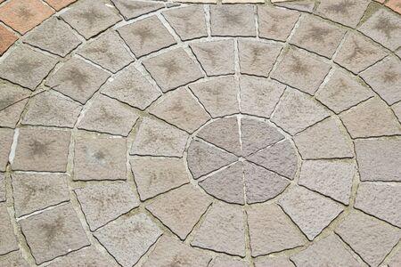 stone block paving at thailand photo