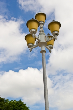 old street lamppost photo