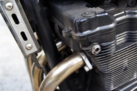motor of motorcycle or motorbike photo