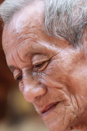 Nice portrait Image of a senior man Outdoors