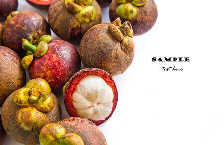 tropical fruit, mangosteen Stock Photo - 17582132