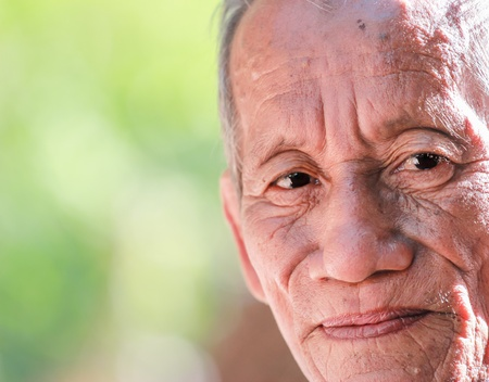 happy old man smiling Stock Photo - 17501987