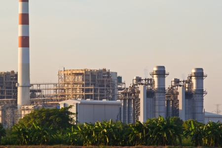 electric power station at chonburi thailand
