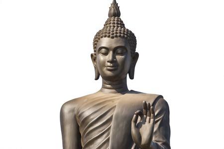 buddha portrait isolated on white Stock Photo - 17583651