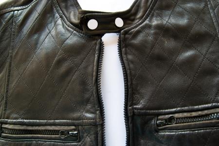 chaqueta de cuero: chaqueta de cuero Foto de archivo
