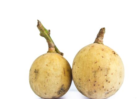 Longkong,Thai fruits isolated white on background Stock Photo - 17861282