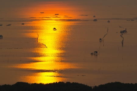 Sunset at chonburi thailand photo
