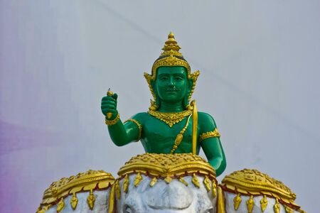dignified: Indra statue in Thailand