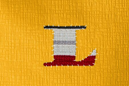 The letter L on cloth photo