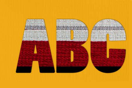 Alphabets on cloth photo