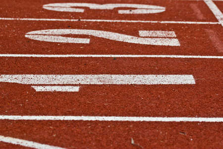 Racing lanes with numbers Stock Photo - 18074043