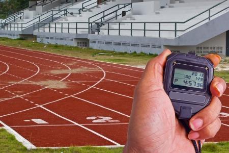 pista de atletismo: Racing carriles con n�meros