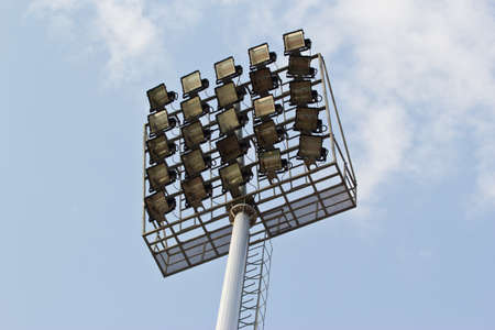 footbal: the lamp in the sports stadium