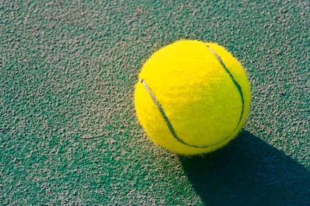 tennis court at chonburi thailand photo