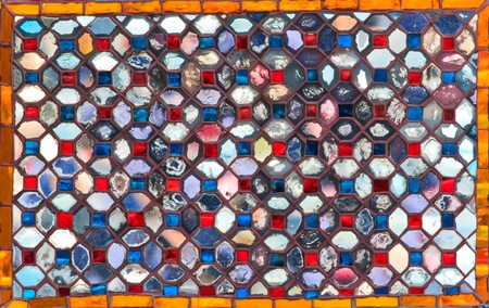 stained glass panel: Seamless square colorful textured stained glass panel