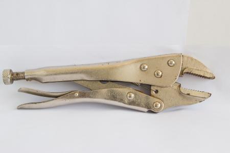 locking: locking Pliers With Closed Jaws. Stock Photo
