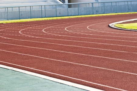 running track rubber standard red color