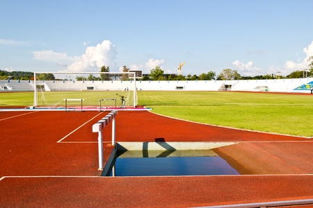 racetrack and long jump pit