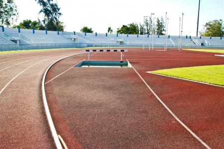 racetrack and long jump pit photo