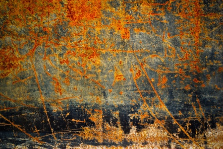 oxidized: Old rust iron metal texture.